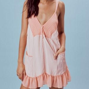 For Love and Lemons Peach Trapeze Babydoll Dress
